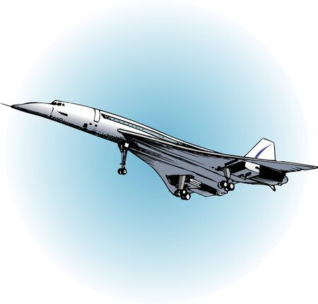 supersonic plane: Aero Special Concorde Stock Photo