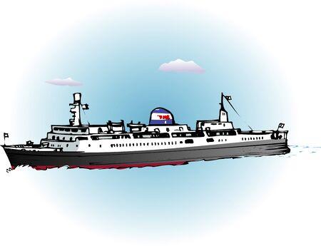 ferry boat: Seikan ferry Tokachi round Stock Photo