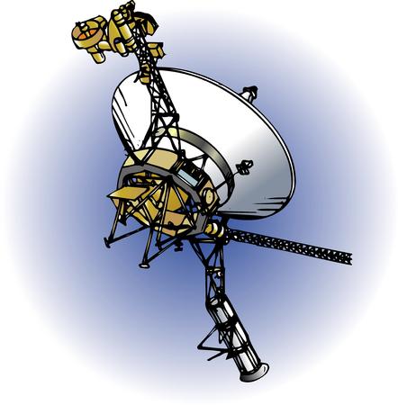 spacecraft: Jupiter spacecraft Stock Photo