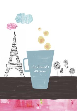 cocain: Delicious coffee in Paris Stock Photo