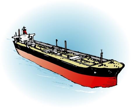 tanker: Oil tanker Stock Photo