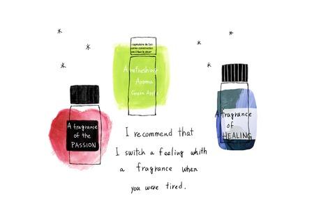 aroma: Colorful aroma oil