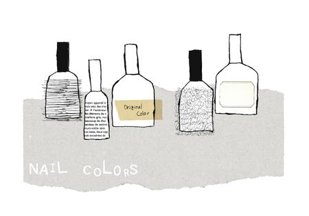 nail color: Nail color Stock Photo