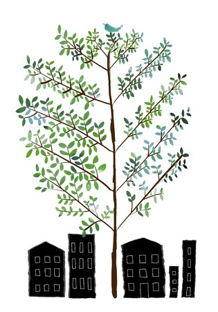 plaza: Memorial tree