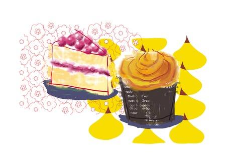 2 つのケーキ 写真素材 - 49513128