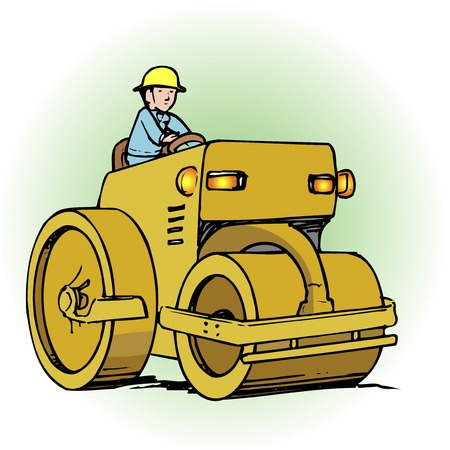 road roller: Road roller Stock Photo