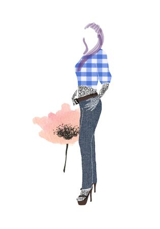 asian lifestyle: Jeans for woman