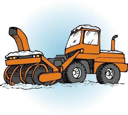 plow: Rotary snow plow vehicles