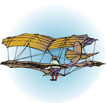 biplane: biplane glider Stock Photo
