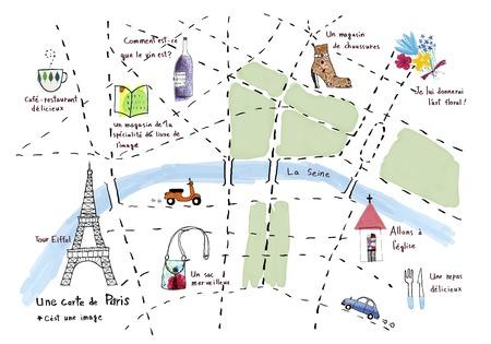 パリの絵地図