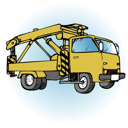wrecker: Tow truck Stock Photo