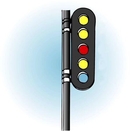 signal: Five-lamp signal