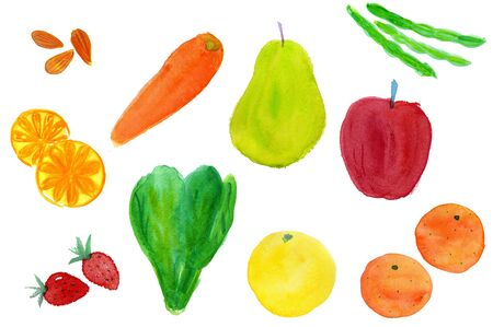mandarin orange: Vegetables and fruit Stock Photo