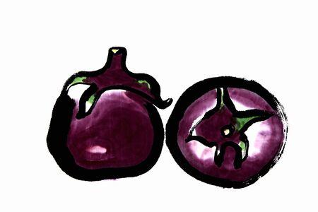 sumi: Round eggplant