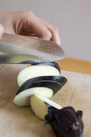 cuchillo de cocina: Berenjena y cuchillo de cocina