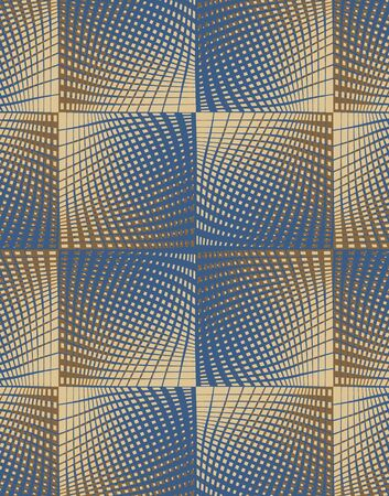 bed sheet: Geometric patterns Stock Photo