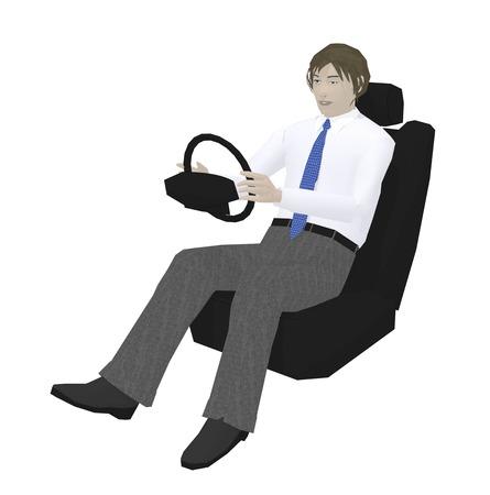 a fellow: Men driving