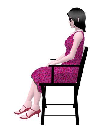 to sit: Las mujeres se sientan en el Director Presidente