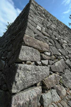 iga: Iga Ueno Tsutsui Castle Ruins of Ishigaki Stock Photo