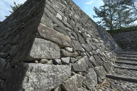 iga: Iga Ueno Tsutsui Castle Ruins of cobbled Mito Ishigaki