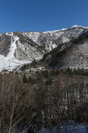 lingering: Landscape of Hirayu ski exiting the tunnel Hirayutoge