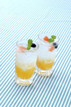 carbonated drink: Lemon squash