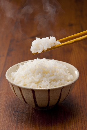 newcomer: Freshly cooked rice