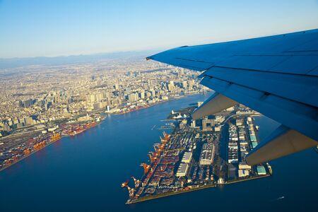 air travel: Wings and Tokyo Bay