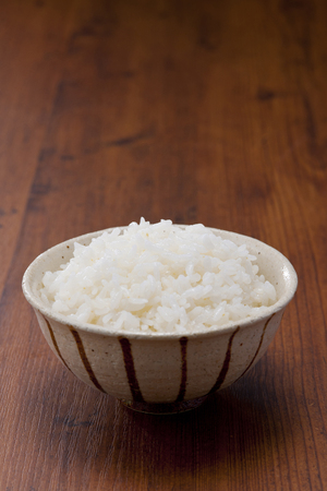 cooked rice: Freshly cooked rice