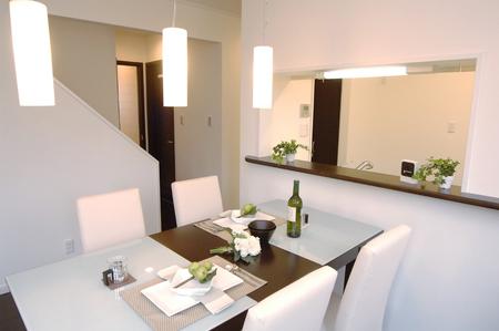 White dining room Stock fotó