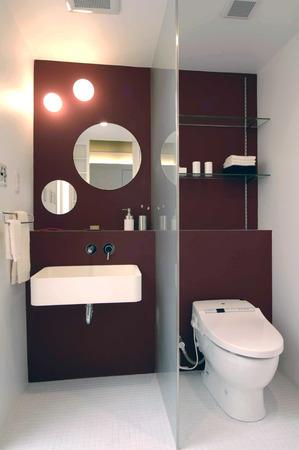 lavamanos: Inodoro y lavabo sanitario Foto de archivo