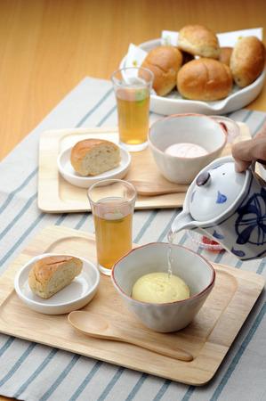 simple meal: Easy breakfast Stock Photo