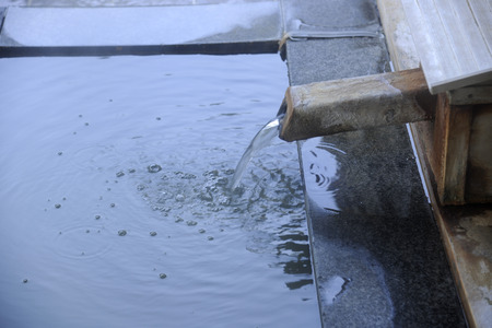 温泉の蛇口 写真素材