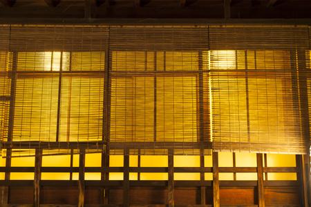 lattice window: Ponto-cho Machiya Stock Photo