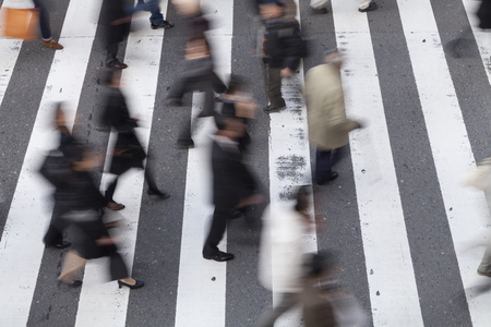 pedestrian: Pedestrian crosswalk Stock Photo