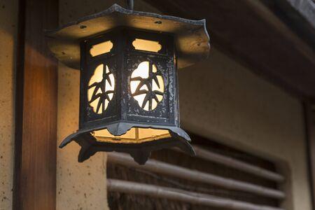 alley: Stone fence alley lantern