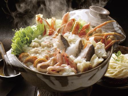 noix saint jacques: Seafood potée Banque d'images