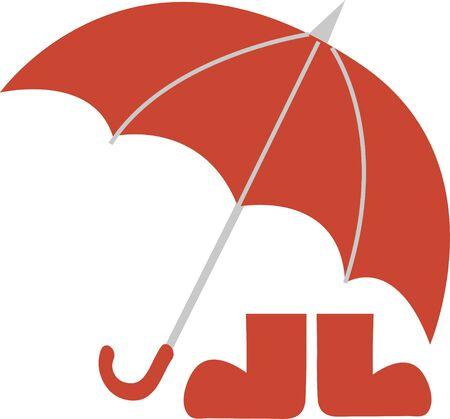 umbrella month: Umbrella and boots