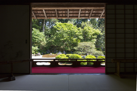 institute: Garden from the Manche Institute small Shoin