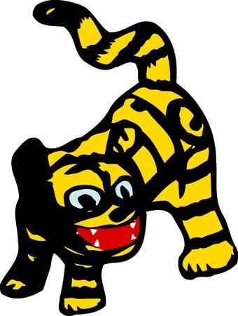 papiermache: Tiger papier-mache