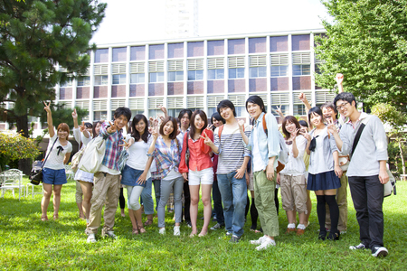 rapture: Smiling college student Stock Photo