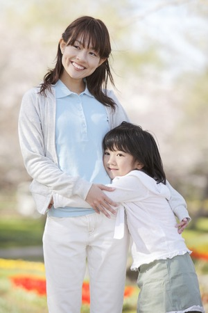 Mother and daughter image