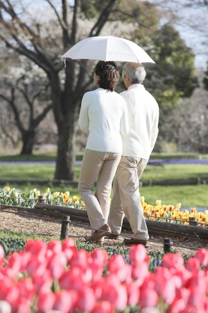 married couples: Senior couple for exploring the park