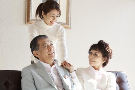 senior adult man: Family image Stock Photo