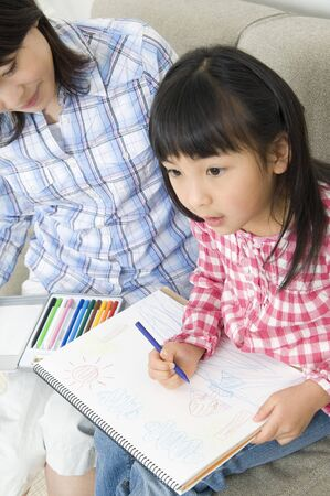 nuclear family: Mother and daughter to the Drawing