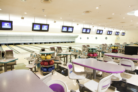 introspection: Introspection of bowling alley Stock Photo