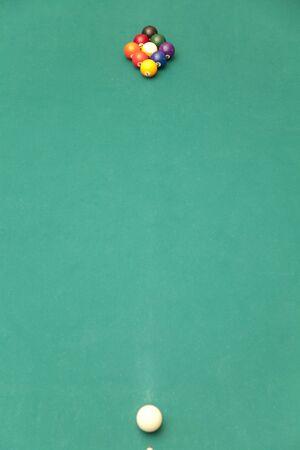 has been: Set has been billiard ball Stock Photo