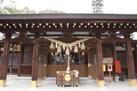 worshipping: Main shrine of Nitta Shrine