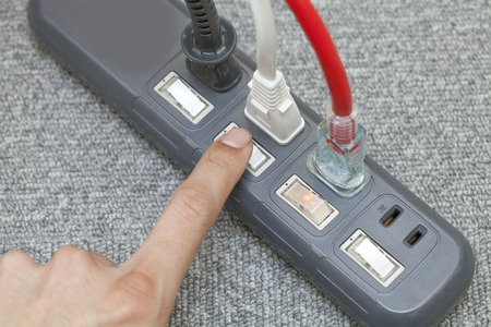 switch: Fingertip push AC switch