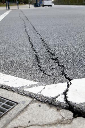 quake: Roads cracked in the quake